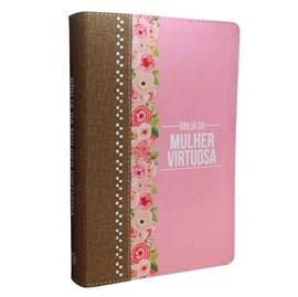 Bíblia da Mulher Virtuosa | ARC | Letra Normal | PU Luxo Rosê