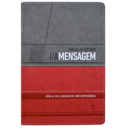 Bíblia de Estudo - A Mensagem | Letra Normal | Vermelha e Cinza