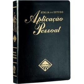 Bíblia de Estudo Aplicação Pessoal Grande | Letra Normal ARC | Preto e Dourado