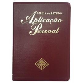 Bíblia de Estudo Aplicação Pessoal Grande | Letra Normal ARC | Vinho e Dourado