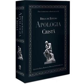 Bíblia de Estudo - Apologia Cristã | Letra Normal ARC | Capa Dura Preta