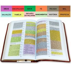 Bíblia de Estudo Colorida | Letra Grande | NVI | Capa Verde