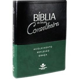 Bíblia de estudo Conselheira | NAA | Luxo Verde e Preta