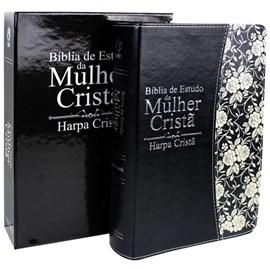 Bíblia de Estudo da Mulher Cristã c/ Harpa | Letra Normal | ARC | Preta