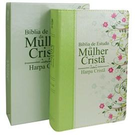 Bíblia de Estudo da Mulher Cristã com Harpa | Letra Normal | ARC | Verde