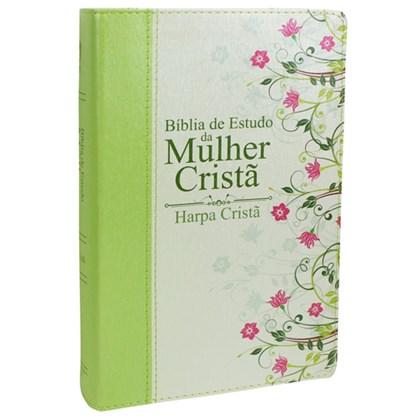 Bíblia de Estudo da Mulher Cristã com Harpa   Letra Normal   ARC   Verde