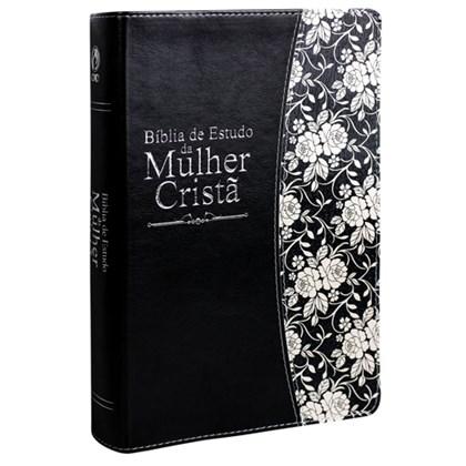 Bíblia de Estudo da Mulher Cristã | Letra Grande | ARC | Couro Preta