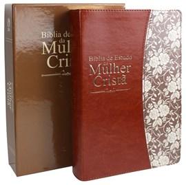 Bíblia de Estudo da Mulher Cristã | Letra Normal | ARC | Couro Marrom