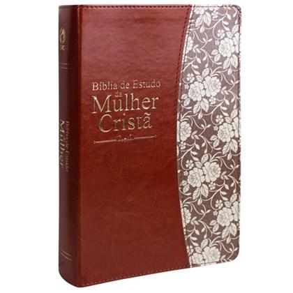 Bíblia de Estudo da Mulher Cristã   Letra Normal   ARC   Couro Marrom
