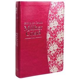 Bíblia de Estudo da Mulher Cristã | Letra Normal | ARC | Couro Pink