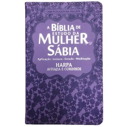 Bíblia de Estudo da Mulher Sábia   ARC   Harpa Avivada   Capa Lilás