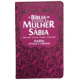 Bíblia de Estudo da Mulher Sábia | ARC | Harpa Avivada | Capa Pink