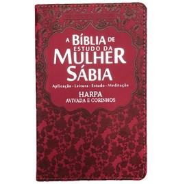 Bíblia de Estudo da Mulher Sábia | ARC | Harpa Avivada | Capa Vermelha