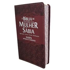 Bíblia de Estudo da Mulher Sábia | ARC | Letra Grande | Capa Luxo Ramalhete Bordo