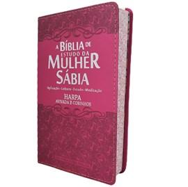 Bíblia de Estudo da Mulher Sábia | ARC | Letra Grande | Capa Luxo Ramalhete Pink