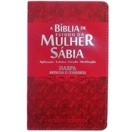 Bíblia de Estudo da Mulher Sábia | ARC | Letra Grande | Capa Luxo Ramalhete Vermelha
