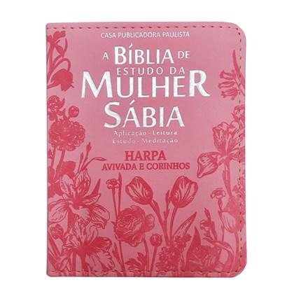 Bíblia de Estudo da Mulher Sábia   ARC   Letra Normal   Harpa Avivada e Corinhos   Capa Rosa Ed. Bolso