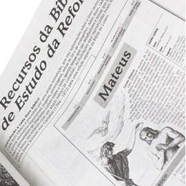Bíblia de Estudo da Reforma | Letra Normal | ARA | Capa Couro Preta Luxo | c/ Índice
