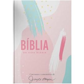 Bíblia de Estudo da Vida Diária Joyce Meyer Artística | NVI | Letra Grande | Capa Dura