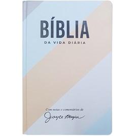 Bíblia de Estudo da Vida Diária Joyce Meyer Listrada Azul | NVI | Letra Grande | Capa Dura