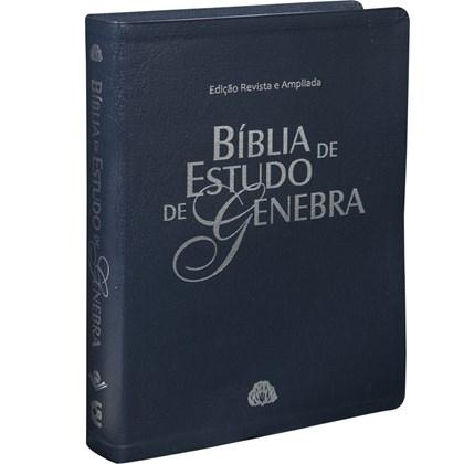 Bíblia de Estudo de Genebra   ARA   Letra Normal   Capa Azul Nobre