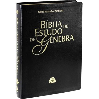 Bíblia de Estudo de Genebra   Letra Normal   ARA   Capa Preta Nobre