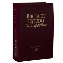 Bíblia de Estudo do Expositor | Letra Normal | NTVE | Capa Couro Vinho