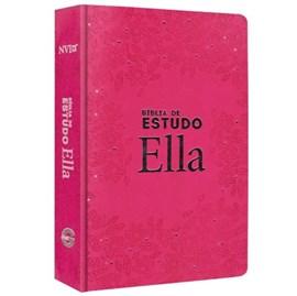 Bíblia de Estudo Ella | NVI | Capa Especial Rosa