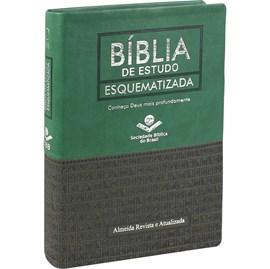 Bíblia de Estudo Esquematizada | Letra Normal | ARA | Capa Verde Luxo