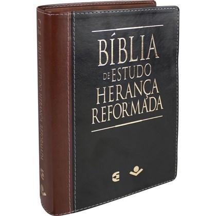 Bíblia de Estudo Herança Reformada | Letra Normal | ARA | Capa Couro e Marrom