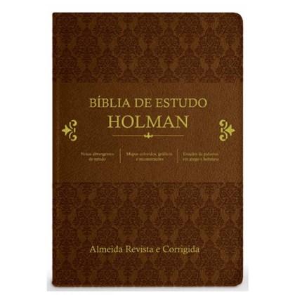 Bíblia de Estudo Holman | ARC | Capa Marrom Luxo