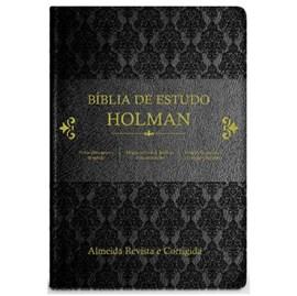 Bíblia de Estudo Holman | ARC | Capa Preto Luxo