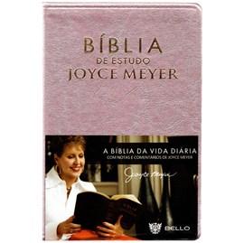 Bíblia De Estudo Joyce Meyer | NVI | Letra Grande | Rosa
