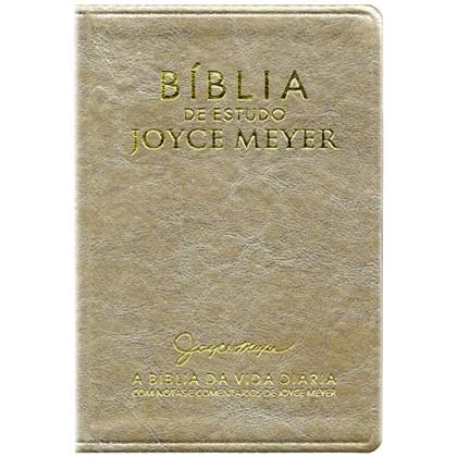 Bíblia De Estudo Joyce Meyer | NVI | Letra Média | Capa Dourada