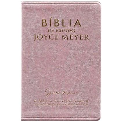 Bíblia De Estudo Joyce Meyer | NVI | Letra Média | Capa Rosa