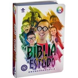 Bíblia de Estudo Kids | NTLH | Letra Normal | Mundo de Otávio | Capa Dura