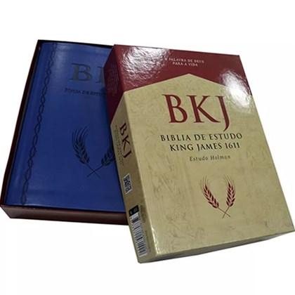 Bíblia de Estudo King James   Holman   Capa Azul
