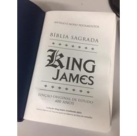 Bíblia de Estudo King James | KJA Letra Grande | Azul