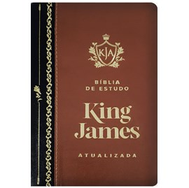 Bíblia de Estudo King James | KJA Letra Grande | Marrom