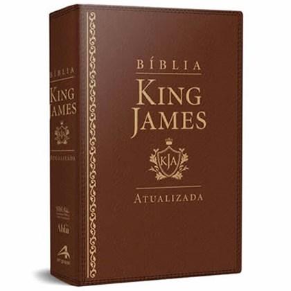 Bíblia de Estudo King James   KJA Letra Grande   Marrom