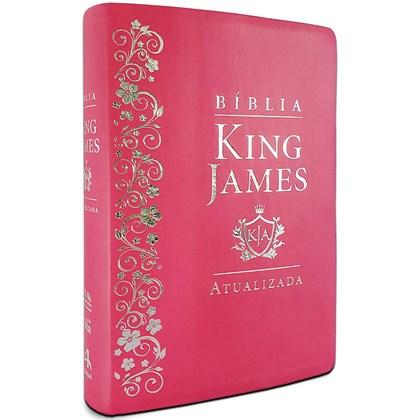 Bíblia de Estudo King James   KJA Letra Grande   Pink