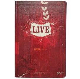 Bíblia de Estudo LIVE   NVI   Letra Média   Capa Luxo