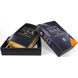 Bíblia de Estudo NAA | Letra Normal | Capa Couro Preta Luxo