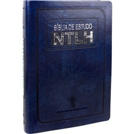Bíblia de Estudo NTLH | Letra Normal | Capa Azul Nobre