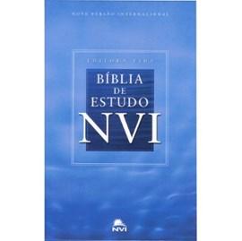 Bíblia De Estudo | NVI | Capa Dura Azul Celeste