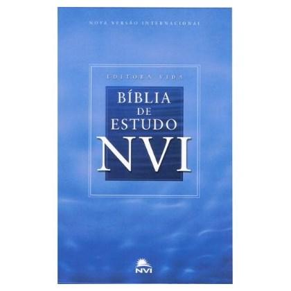 Bíblia De Estudo   NVI   Capa Dura Azul Celeste