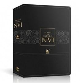 Bíblia de Estudo | NVI | Pu Luxo Preto | Sem Índice