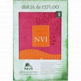 Bíblia de Estudo | NVI | Rosa e Laranja | Sem Índice