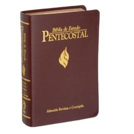 Bíblia de Estudo Pentecostal Grande | Letra Grande | ARC | Luxo Vinho