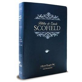 Bíblia de Estudo Scofield  | ACF | Letra Média C/ Concordância | Capa Azul Luxo